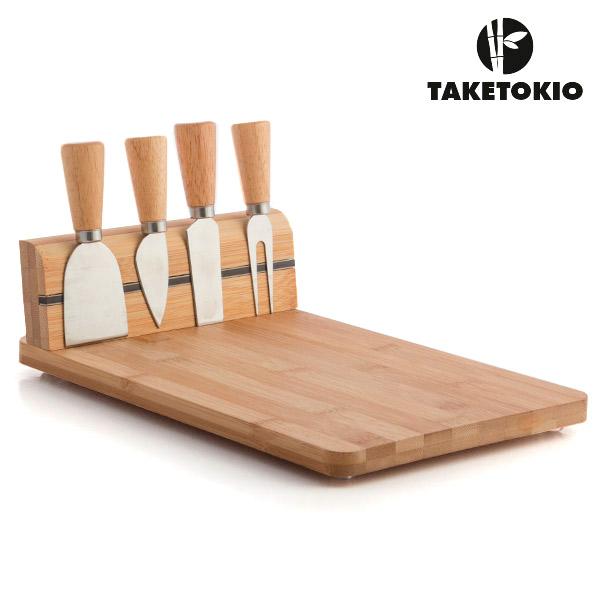Set de Bambú para Cortar Queso TakeTokio (5 piezas) (2)