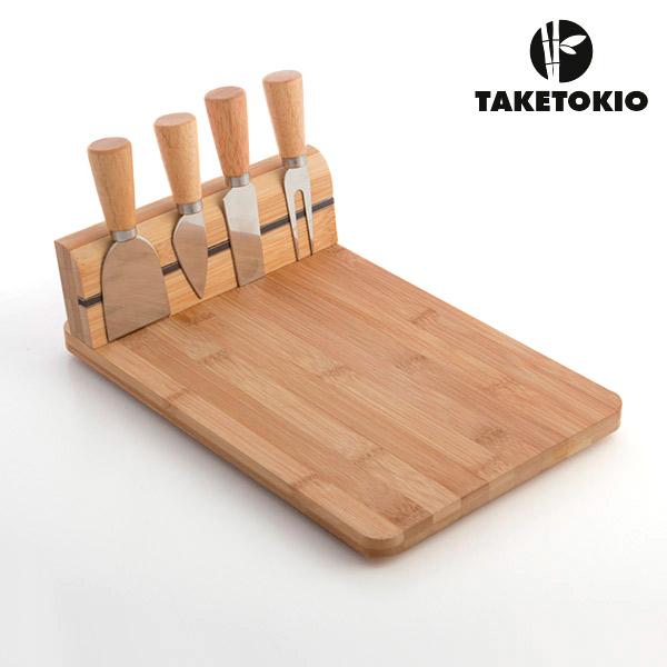 Set de Bambú para Cortar Queso TakeTokio (5 piezas) (1)