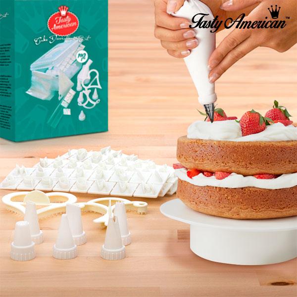 Set za Dekoracijo Tort Tasty American (100 Kosov)