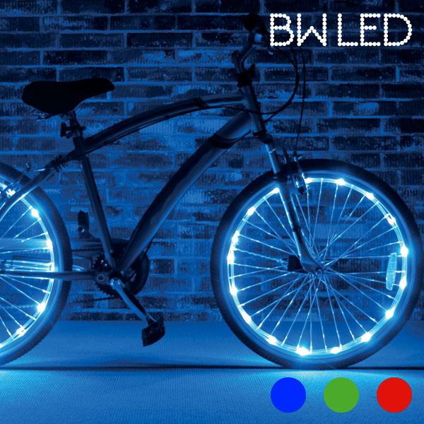 Svetlobne Cevi Za Kolesa BW LED - Rdeča
