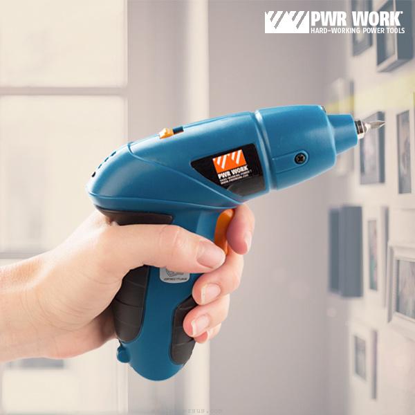 Destornillador Electrico con Accesorios PWR Work D1510142