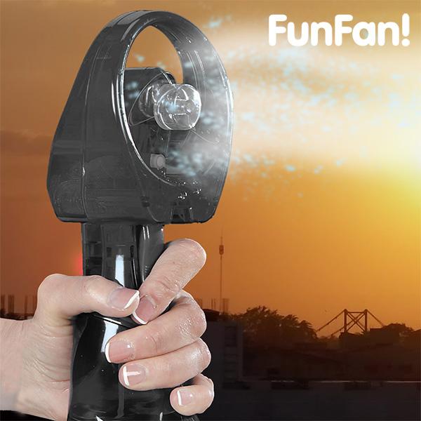 Prenosni Ventilator z Razpršilcem FunFan - Črna