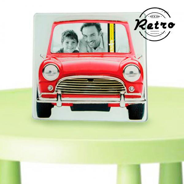 Stekleni Okvir za Fotografije Vintage Avto - Rumena