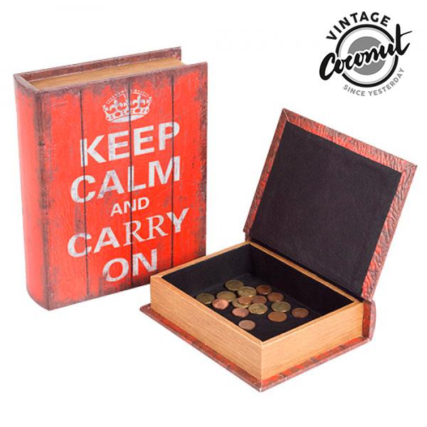 Keep Calm Lesene Škatle Knjiga (2 kosa)