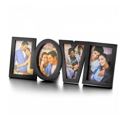 Romantični Plastični Okvir za Fotografije Love - Bela