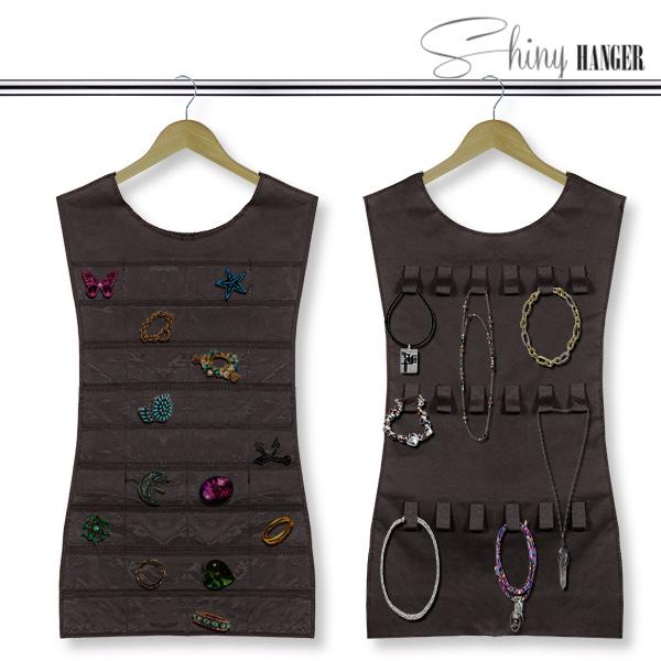 Vestido Organizador de Joyas Shiny Hanger Black D4010149