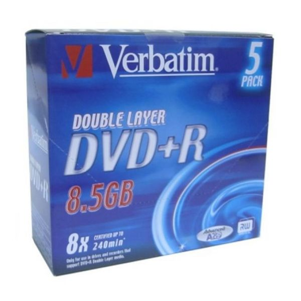 DVD+R Verbatim 43541 8,5 GB 8x 5 pcs