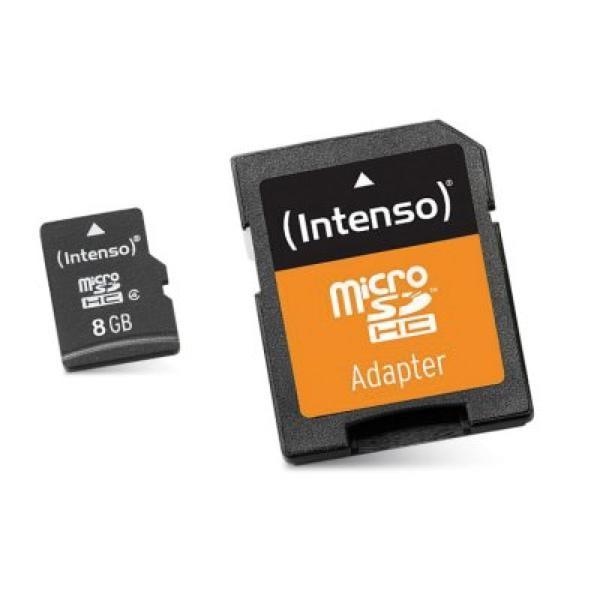 Spominska Kartica Micro SD z Adapterjem INTENSO 3413460 8 GB Razred 10