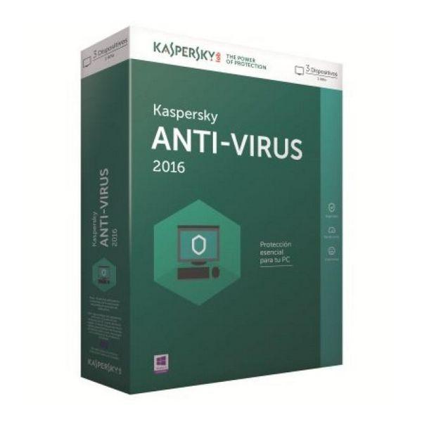 Kaspersky Antivirus 2016 3L/1Leto
