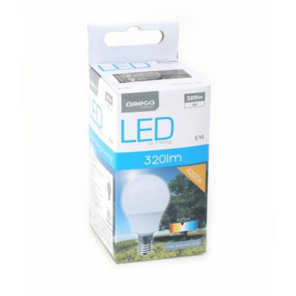 Gömbölyű LED Izzó Omega E14 4W 320 lm 4200 K Természetes fény
