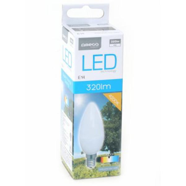 LED Gyertya Izzó Omega E14 4W 320 lm 4200 K Természetes fény
