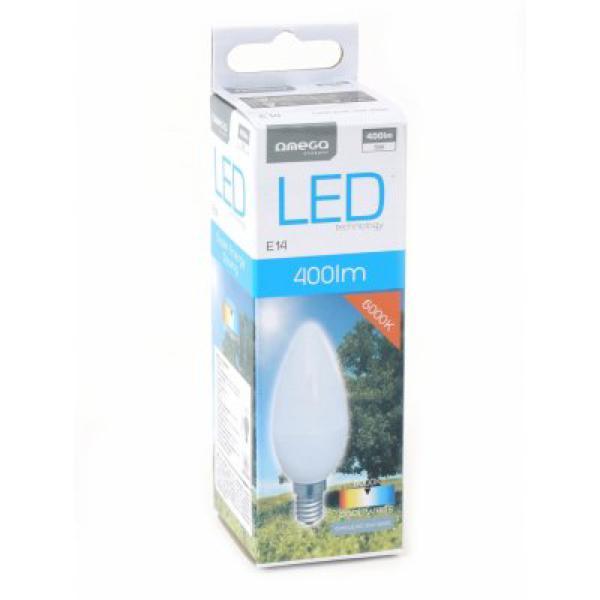 LED Gyertya Izzó Omega E14 5W 400 lm 6000 K Fehér fény