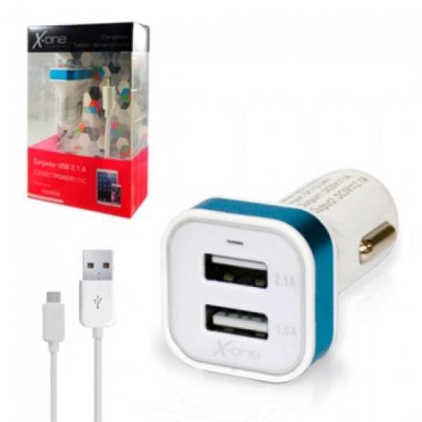 Caricabatteria per Auto X-ONE 8134 2 x USB 1 A / 2,1 A 8400000081344  02_S0202616