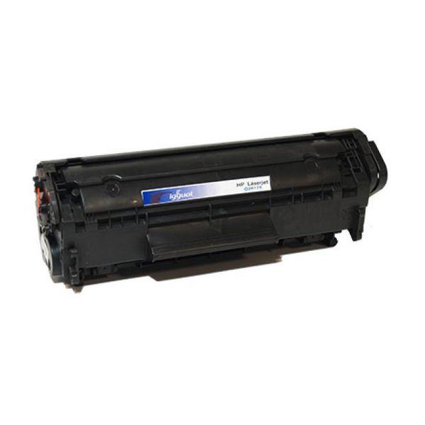 iggual Recklirani Toner HP Q2612X Črni