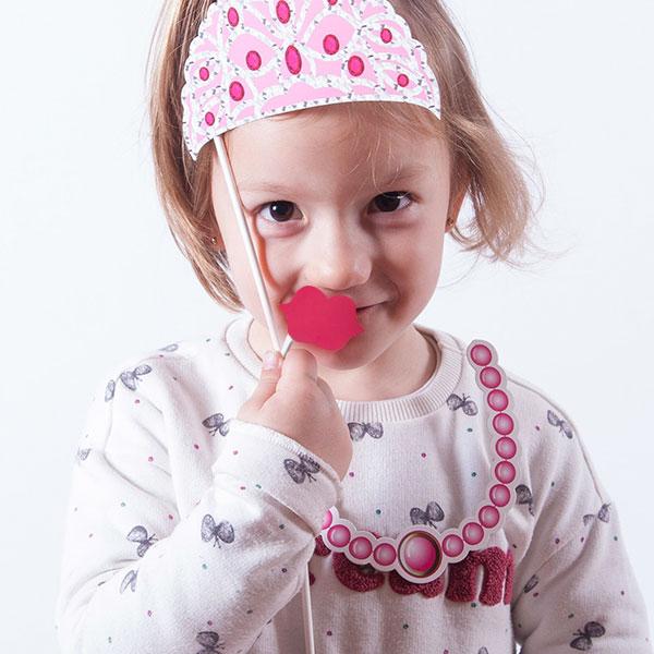 Princess Accessori Principessa per Foto Divertenti (pacco da 12)