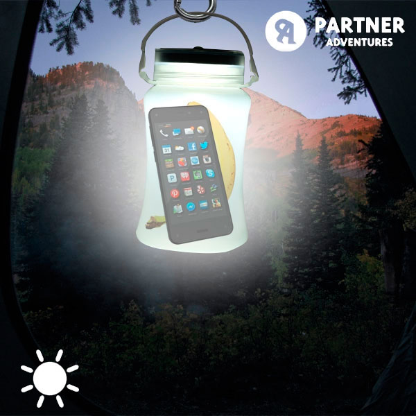 Bidon LED Solaire en Silicone Partner Adventures