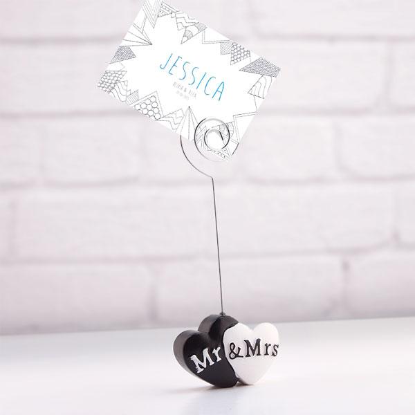 Stojalo za Kartice Mr & Mrs
