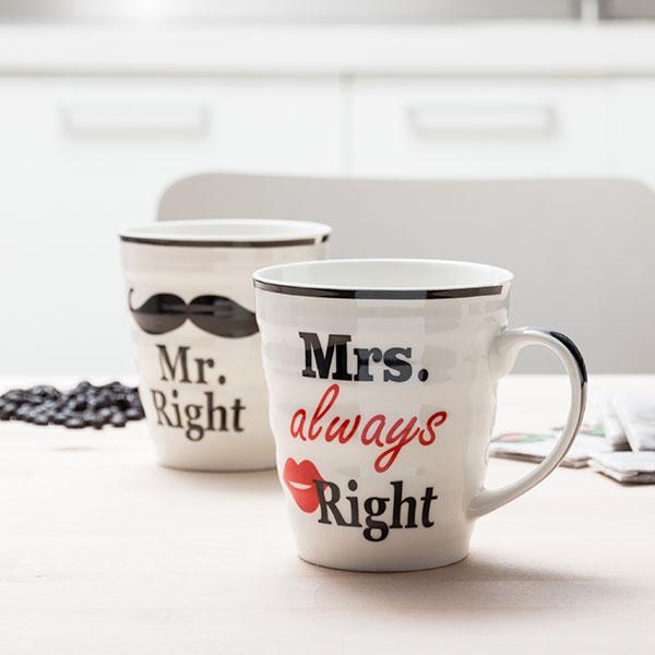 Mr. Right & Mrs. Always Right Bögrék