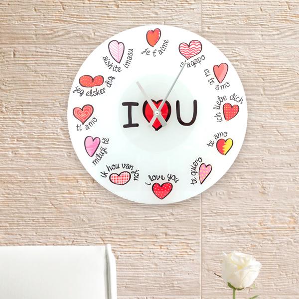 I Love You Többnyelvű Falióra