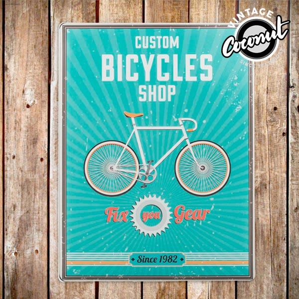 Starinska Kovinska Tabla Bicycles Shop