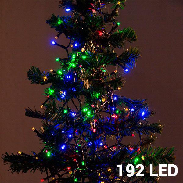 Večbarvne Novoletne Lučke (192 LED)