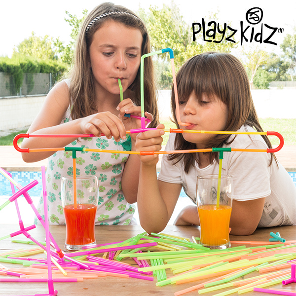 Playz Kidz Szívószálas Játék (194 db)