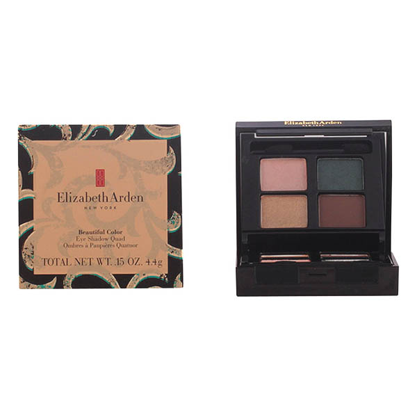 Elizabeth Arden - BEAUTIFUL COLOR eye shadow quad golden opulence 4,4 gr