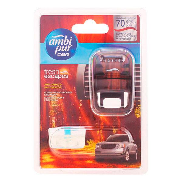 Ambi Pur - CAR ambientador aparato + recambio anti-tabaco 7 ml