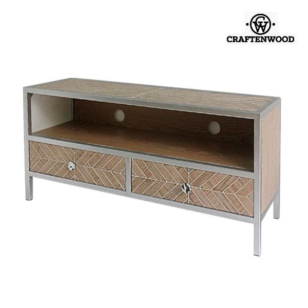 Mueble TV Mdf Blanco (120 x 35 x 55 cm) by Craftenwood