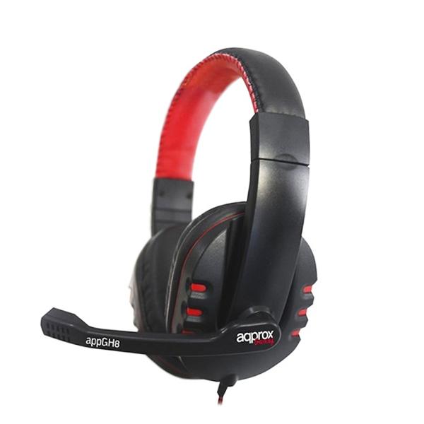 approx Slušalke+mikrofon Gaming appGH8 Črne-rdeče/črne