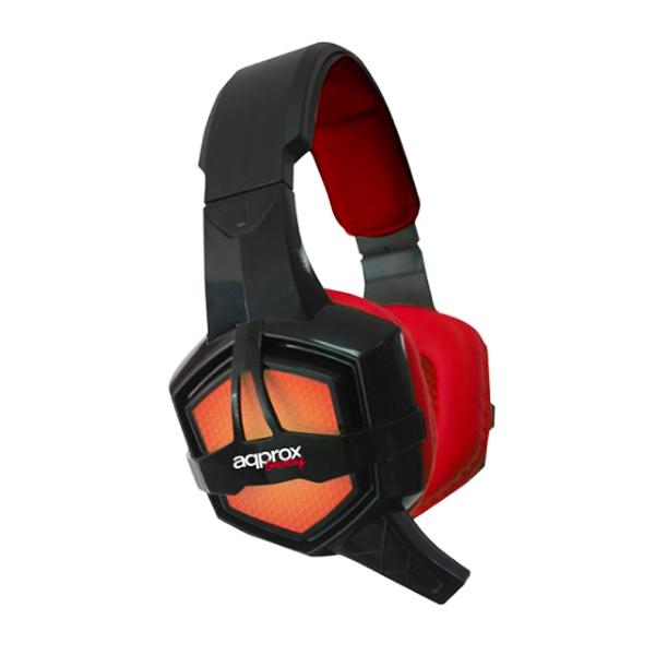 approx Slušalke+mikrofon Gaming appGH10 Črne-rdeče/črne