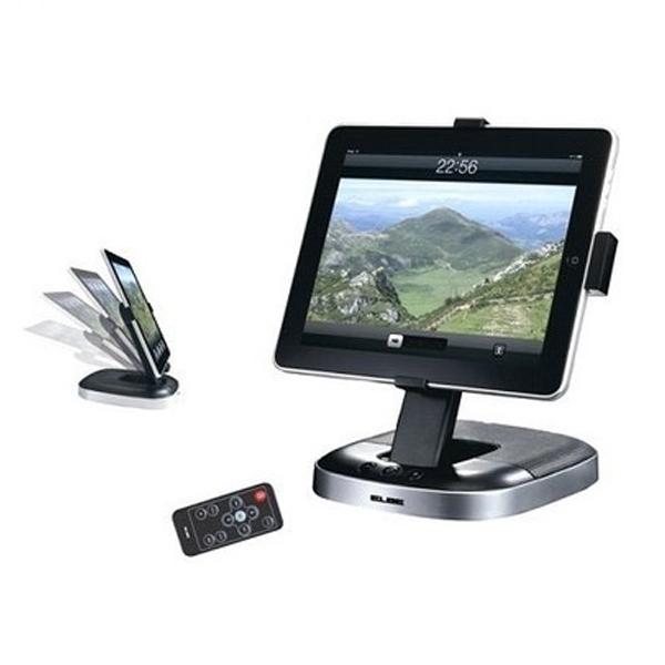 Base con Altavoces y Mando para iPad ELBE MI-861 USB