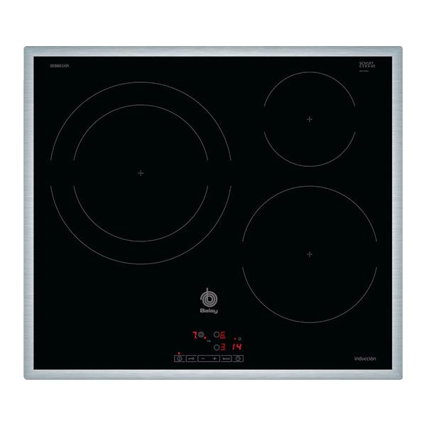 Indukciós Főzőlap Balay 3EB865XR 60 cm Fekete (3 főzőfelületek)