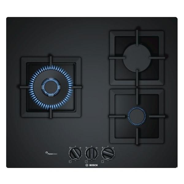 Gáz Főzőlap BOSCH PPC6A6B20 60 cm Fekete (3 tűzhelyek)