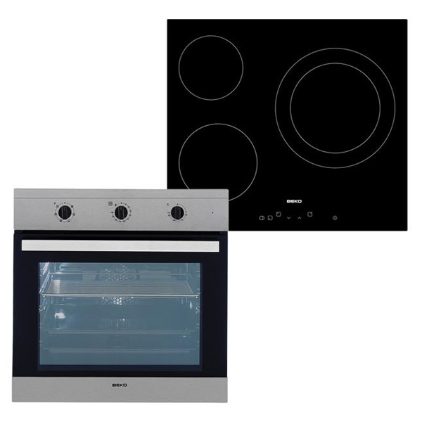 Sütő és Üvegkerámia Készlet BEKO 202045 65 L TouchControl Inox Acél Fekete