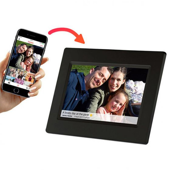 "Digitális képkeret Denver Electronics PFF-710B 7"" 8 GB WIFI Fekete"
