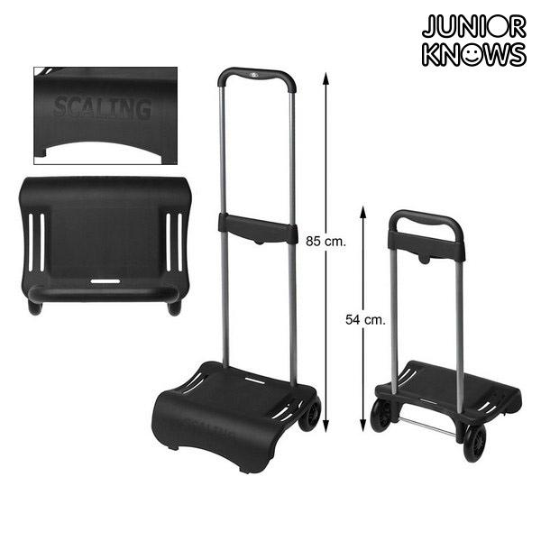 Húzószerkezet hátizsákhoz Junior Knows 88117 (80 x 28 cm) Fekete