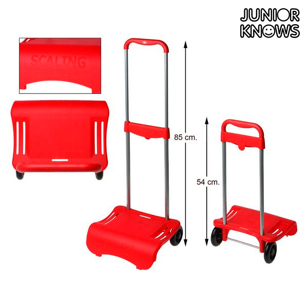 Húzószerkezet hátizsákhoz Junior Knows 88261 (80 x 28 cm) Piros