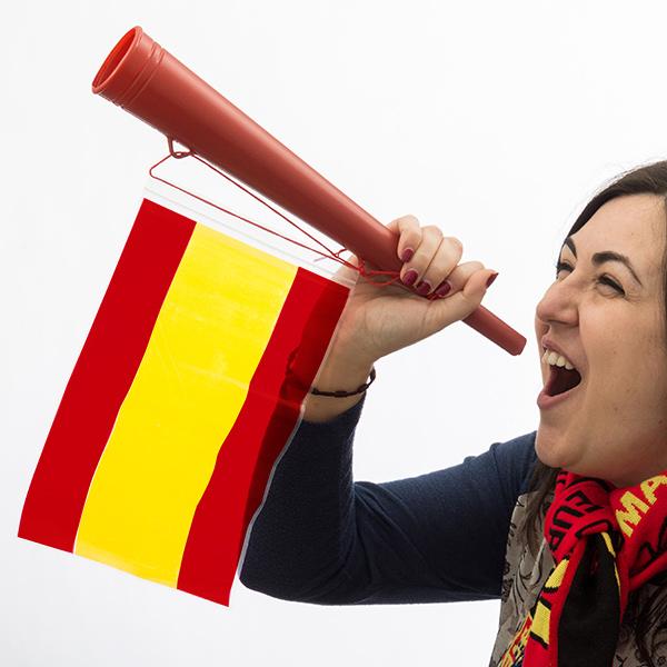 Spanyol Zászló Drukkolókürt