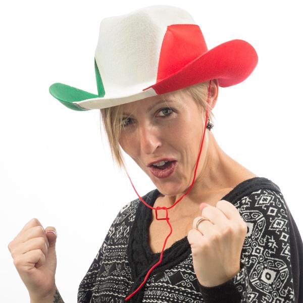 Olasz Zászló Cowboy Sapka