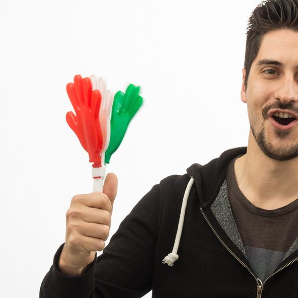 Olasz Zászló Tapsoló Kezek