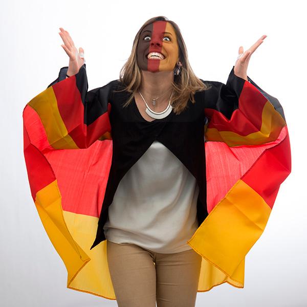 Német Zászló Köpeny