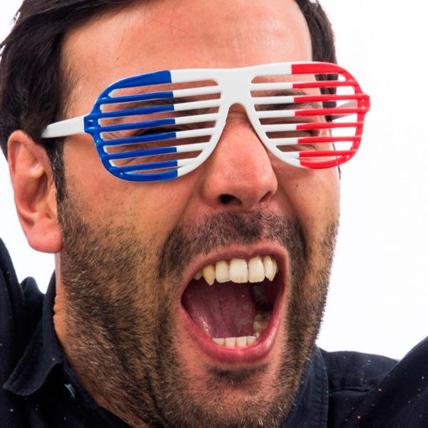 Francia Zászló Redönyös  Szemüveg