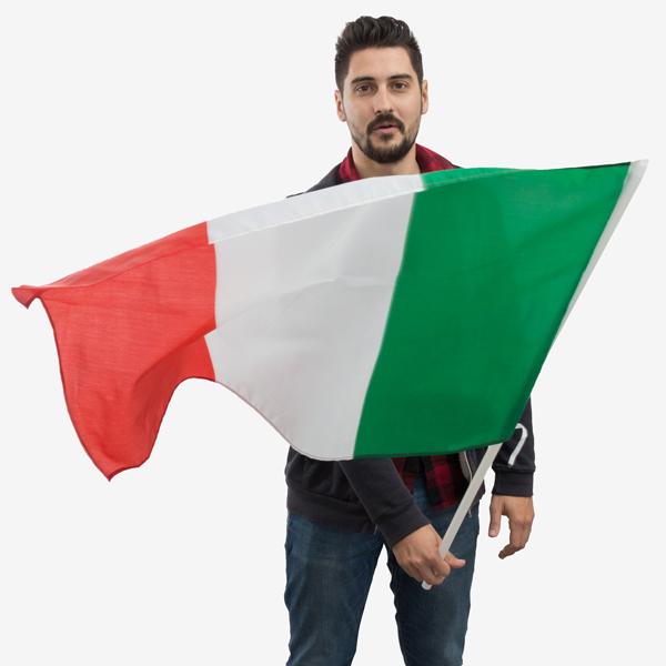 Olasz Zászló Rúddal (90 x 60 cm)