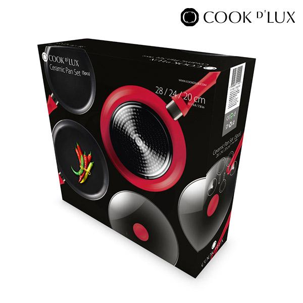 Cook D'Lux Serpenyők (5 darab)