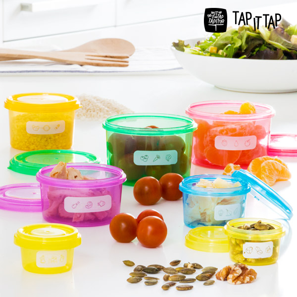 Posode za Uravnoteženo Prehrano Tap It Tap (7 kosov)