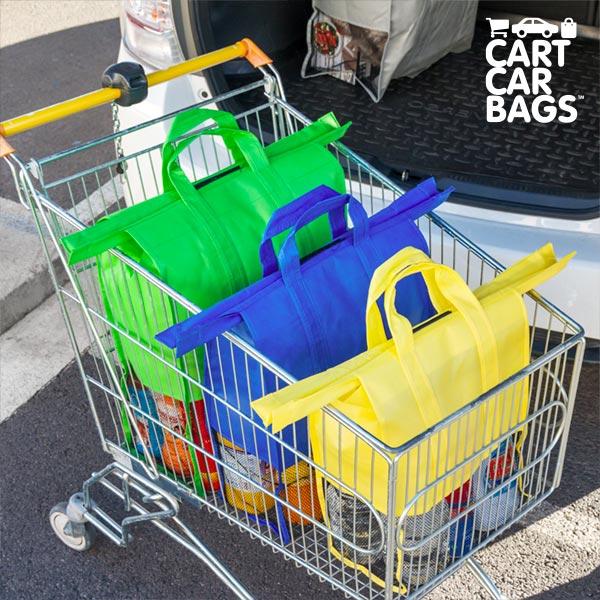 Buste per Sistemare la Spesa e il Bagagliaio Cart Car Bags (pacco da 4)