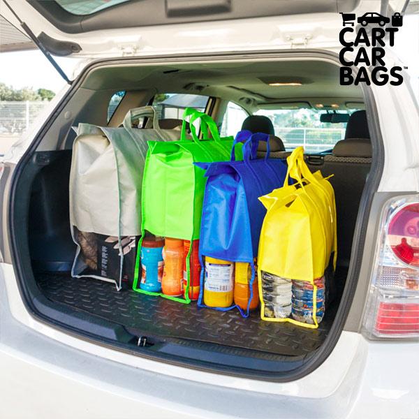 Cart Car Bags Rendszerező Táskák Bevásárláshoz és Csomagtartóba (4 darab)
