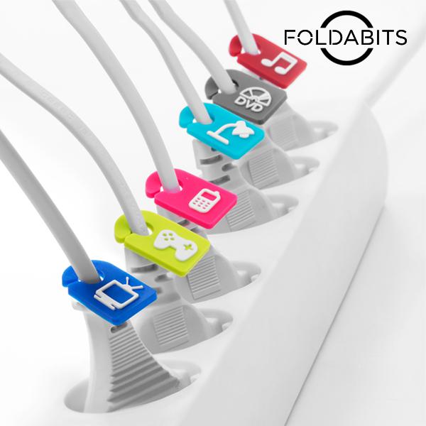 Foldabits Kábelazonosító (6 darabos csomag)