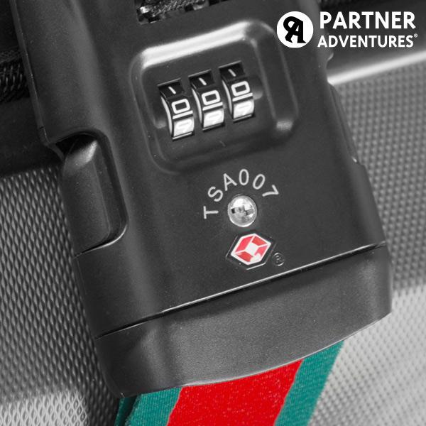 Partner Adventures Bőröndpánt Mérleggel és Biztonsági Kóddal